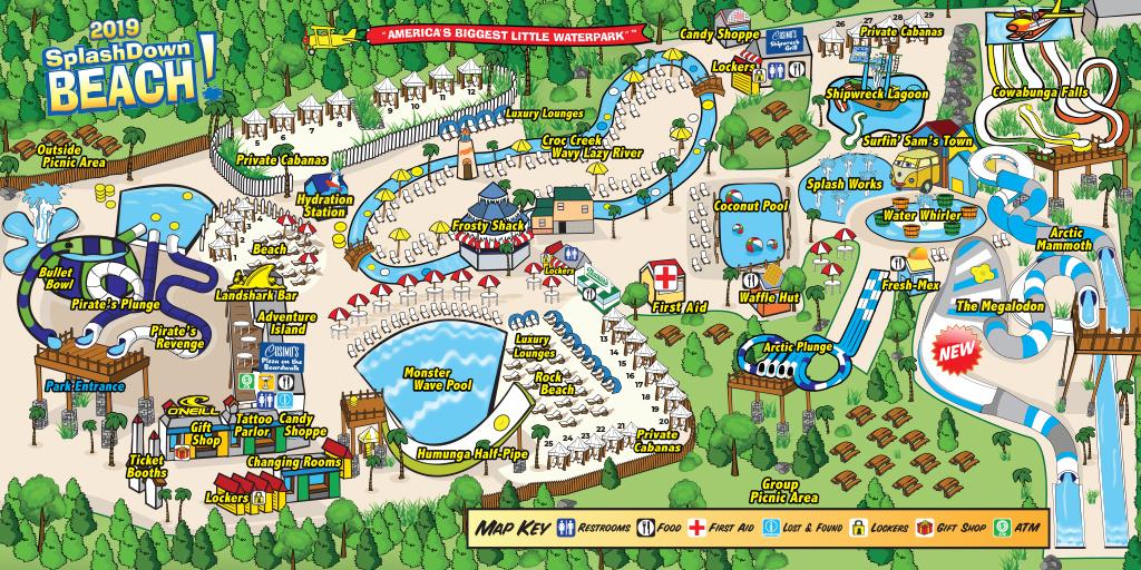 SplashDown Beach Map