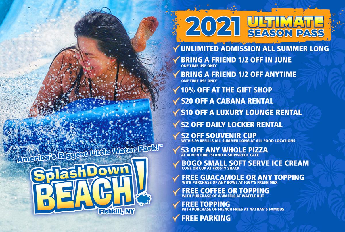 2021 SplashDown Beach Season Pass Perks